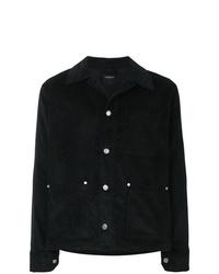 Veste-chemise en velours côtelé noire Tom Wood