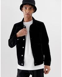 Veste-chemise en velours côtelé noire Weekday