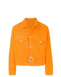 Veste-chemise en velours côtelé orange