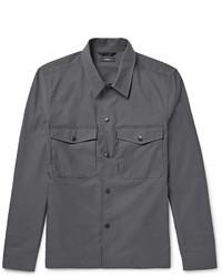 Veste-chemise gris foncé