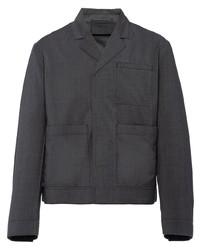 Veste-chemise gris foncé Prada