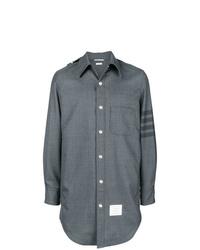 Veste-chemise grise Thom Browne