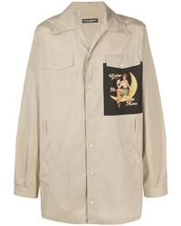 Veste-chemise imprimée beige Dolce & Gabbana