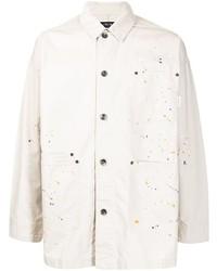 Veste-chemise imprimée beige FIVE CM