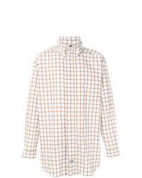 Veste-chemise imprimée blanche