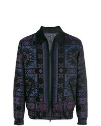 Veste-chemise imprimée bleu marine Etro