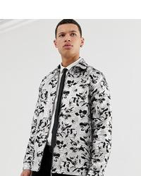 Veste-chemise imprimée grise ASOS Edition