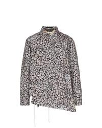 Veste-chemise imprimée grise Comme Des Garcons Homme Plus