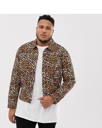Veste-chemise imprimée léopard marron ASOS DESIGN