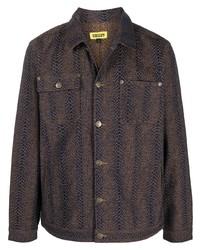 Veste-chemise imprimée marron foncé Chinatown Market
