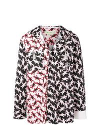 Veste-chemise imprimée noire Marni