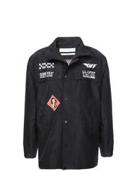 Veste-chemise imprimée noire Off-White