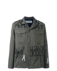 Veste-chemise imprimée olive Etro