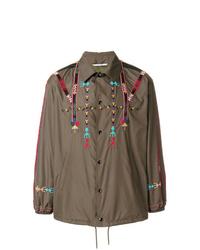 Veste-chemise imprimée olive Valentino