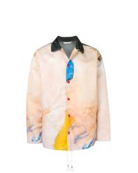 Veste-chemise imprimée rose Marni