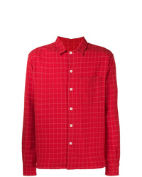 Veste-chemise imprimée rouge AMI Alexandre Mattiussi