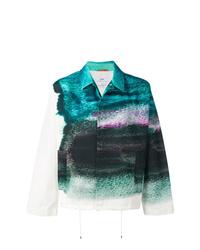 Veste-chemise imprimée tie-dye bleu canard Oamc