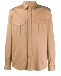 Veste-chemise marron clair Brunello Cucinelli