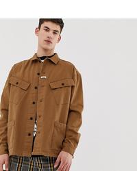Veste-chemise marron clair Collusion