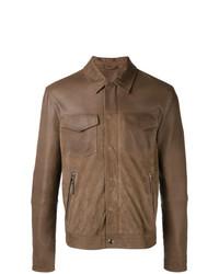 Veste-chemise marron Eleventy