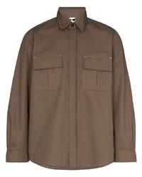 Veste-chemise marron GR10K