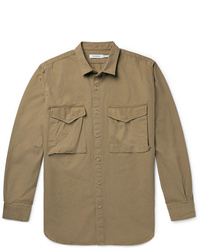 Veste-chemise marron Nonnative