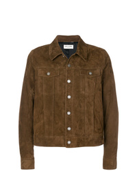 Veste-chemise marron Saint Laurent