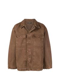 Veste-chemise marron Yeezy