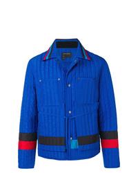 Veste-chemise matelassée bleue