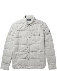 Veste-chemise matelassée grise