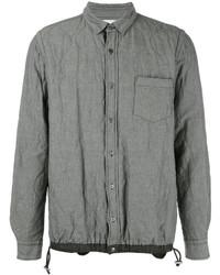 Veste-chemise matelassée grise Sacai