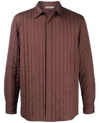 Veste-chemise matelassée marron Auralee