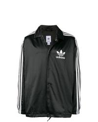 Veste-chemise noire et blanche adidas