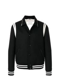 Veste-chemise noire et blanche Valentino