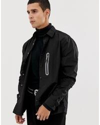 Veste-chemise noire ASOS DESIGN