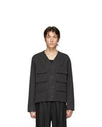 Veste-chemise noire Lemaire
