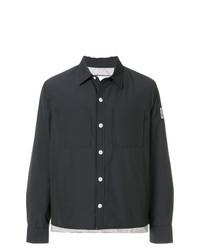 Veste-chemise noire Moncler Gamme Bleu