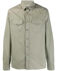 Veste-chemise olive Brunello Cucinelli