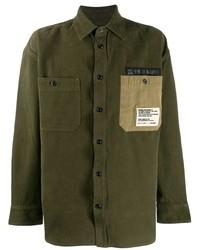 Veste-chemise olive Diesel