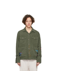 Veste-chemise olive Greg Lauren