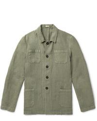 Veste-chemise olive Massimo Alba
