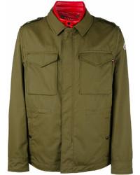 Veste-chemise olive Moncler