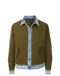 Veste-chemise olive Overcome
