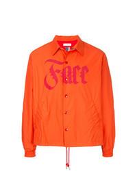 Veste-chemise orange