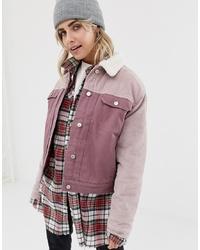 Veste-chemise rose Pull&Bear