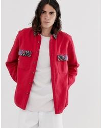 Veste-chemise rouge ASOS DESIGN