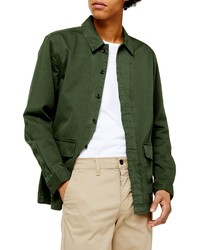 Veste-chemise vert foncé