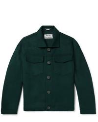 Veste-chemise vert foncé Acne Studios