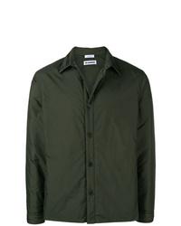Veste-chemise vert foncé Jil Sander