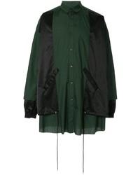 Veste-chemise vert foncé Kidill